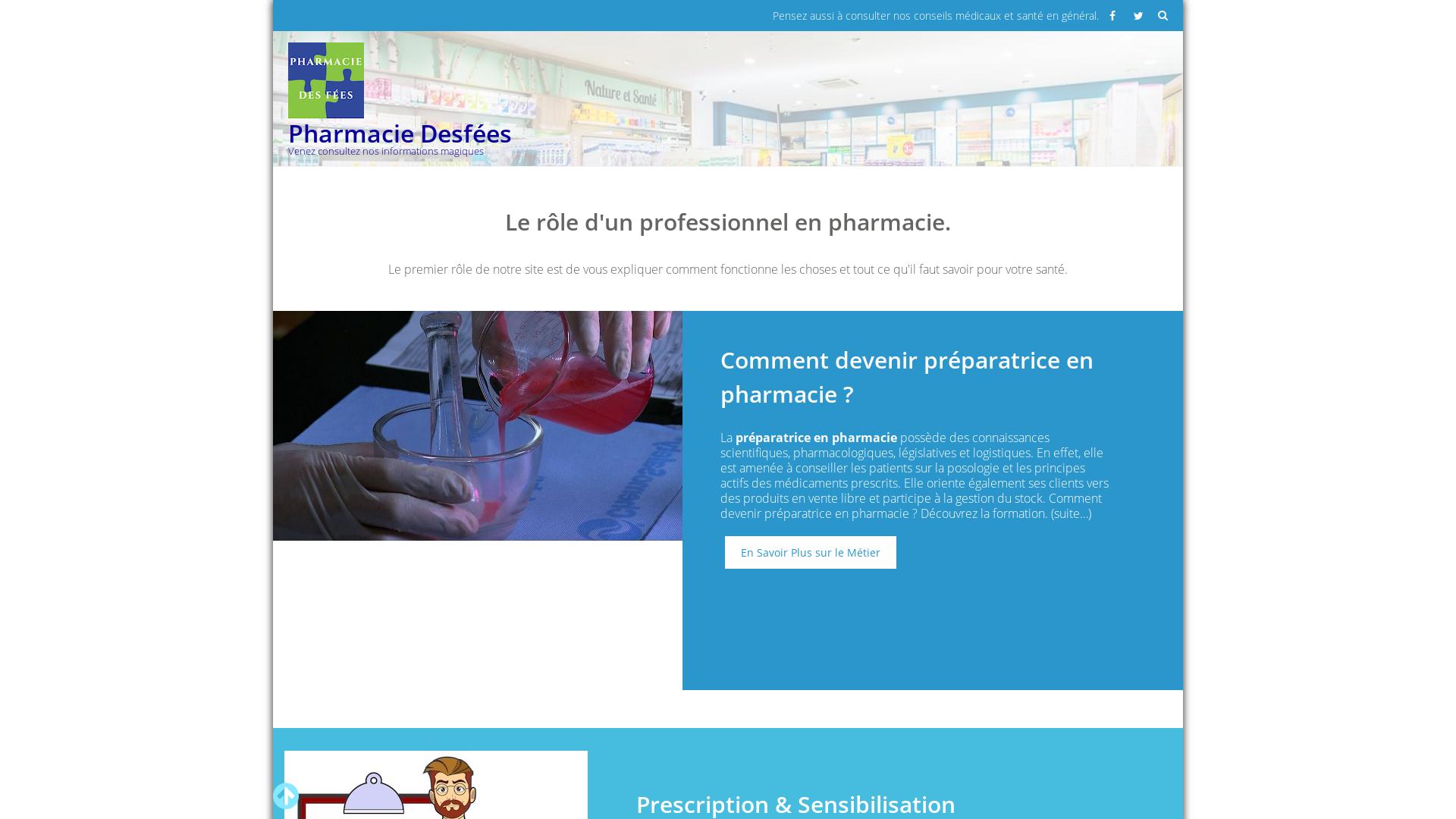 pharmaciedesfees.fr